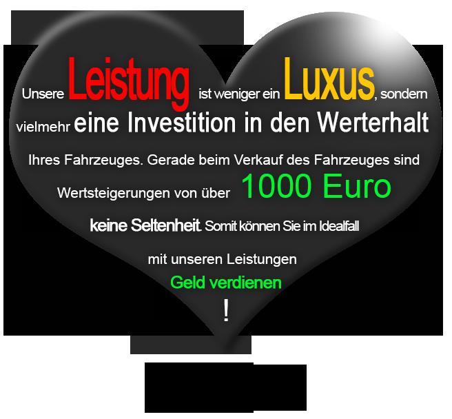 Fahrzeugpflege Preis Erklärung Herzform